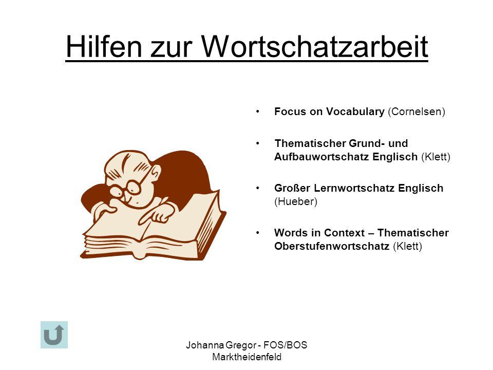 Hilfen zur Wortschatzarbeit