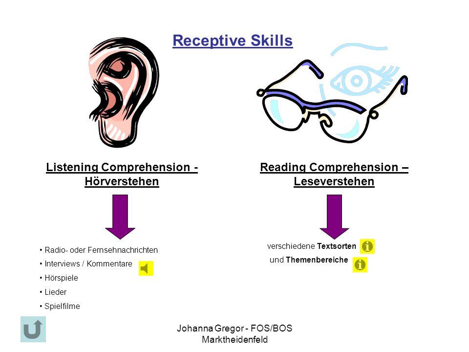 Receptive Skills Listening Comprehension - Hörverstehen