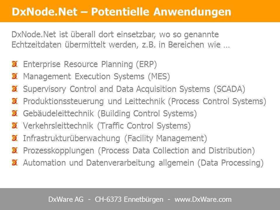 DxNode.Net – Potentielle Anwendungen