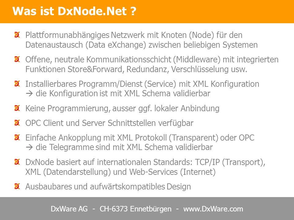 Was ist DxNode.Net Plattformunabhängiges Netzwerk mit Knoten (Node) für den Datenaustausch (Data eXchange) zwischen beliebigen Systemen.