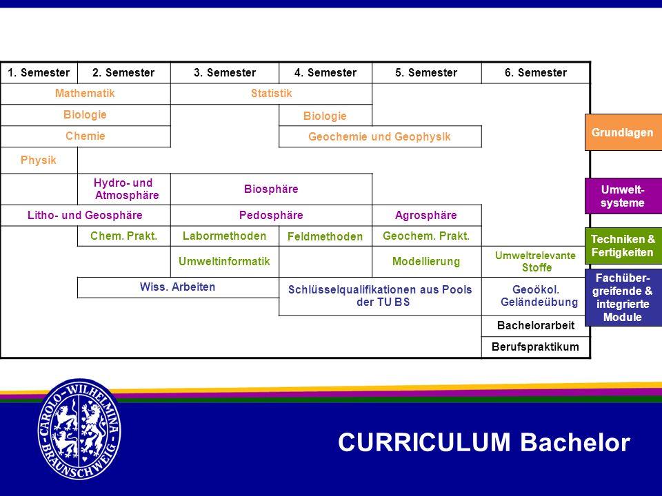 CURRICULUM Bachelor 1. Semester 2. Semester 3. Semester 4. Semester