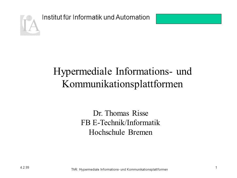 Hypermediale Informations- und Kommunikationsplattformen