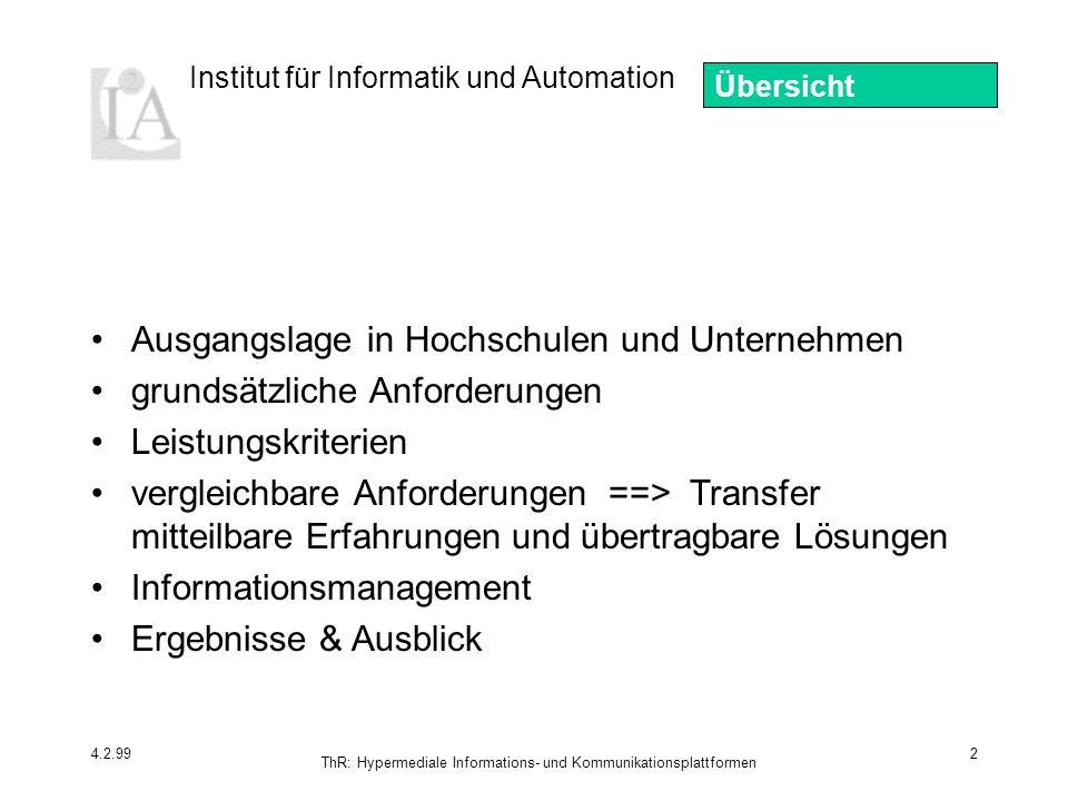 ThR: Hypermediale Informations- und Kommunikationsplattformen
