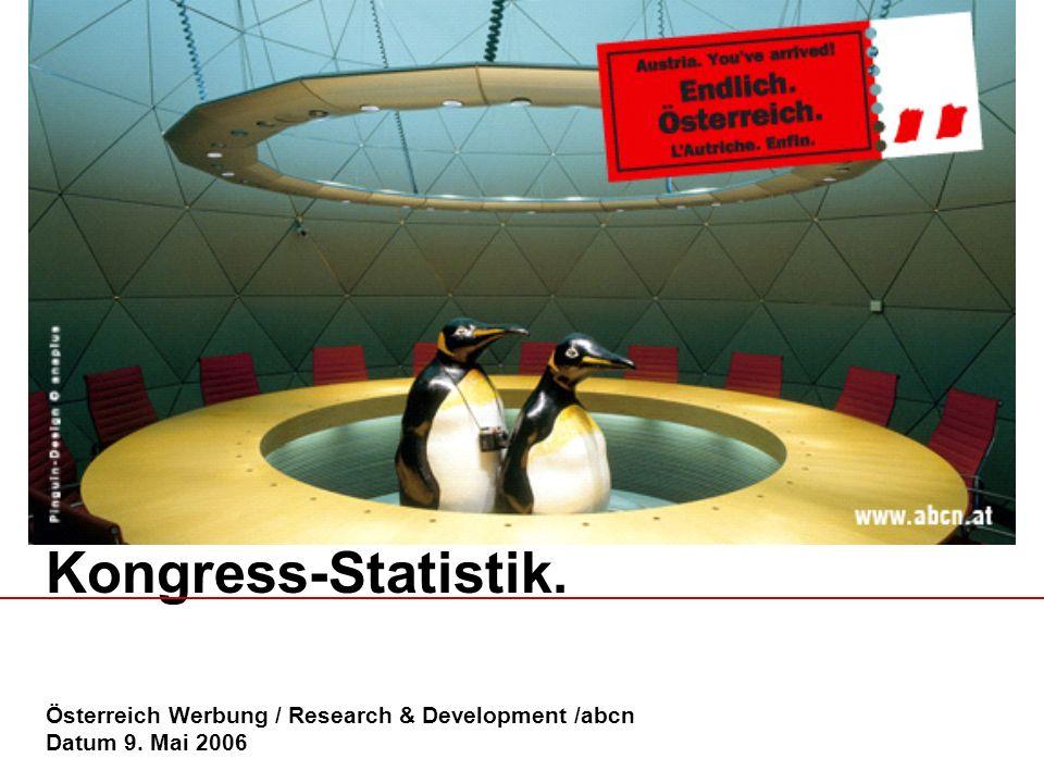 Kongress-Statistik. Österreich Werbung / Research & Development /abcn