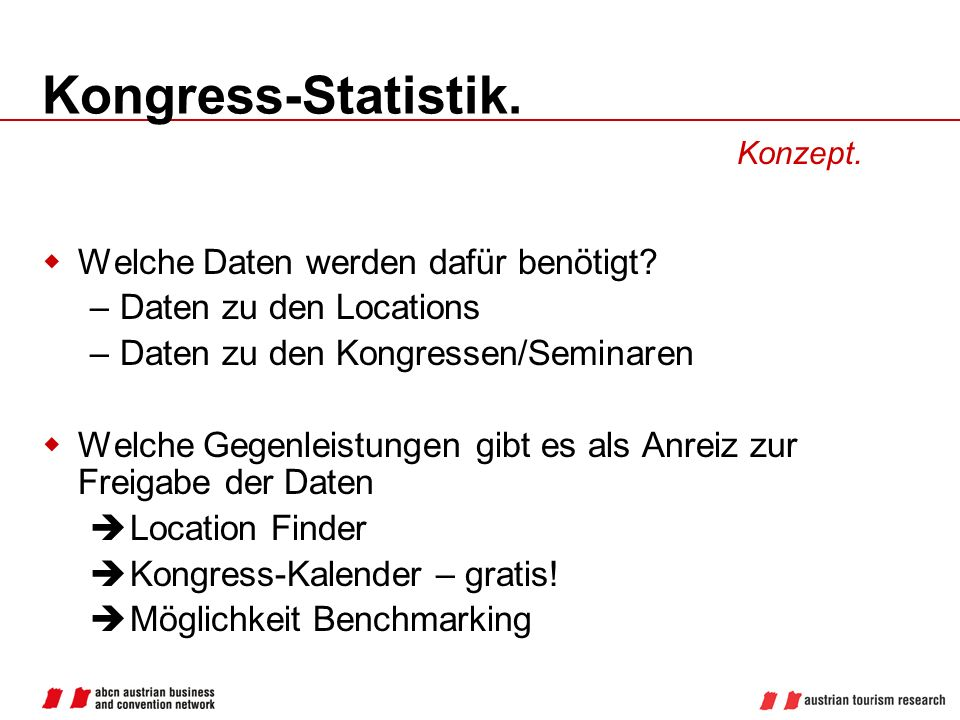 Kongress-Statistik. Welche Daten werden dafür benötigt
