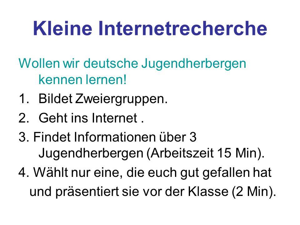 Kleine Internetrecherche