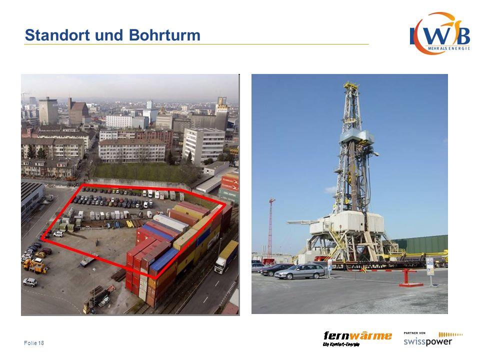 Standort und Bohrturm