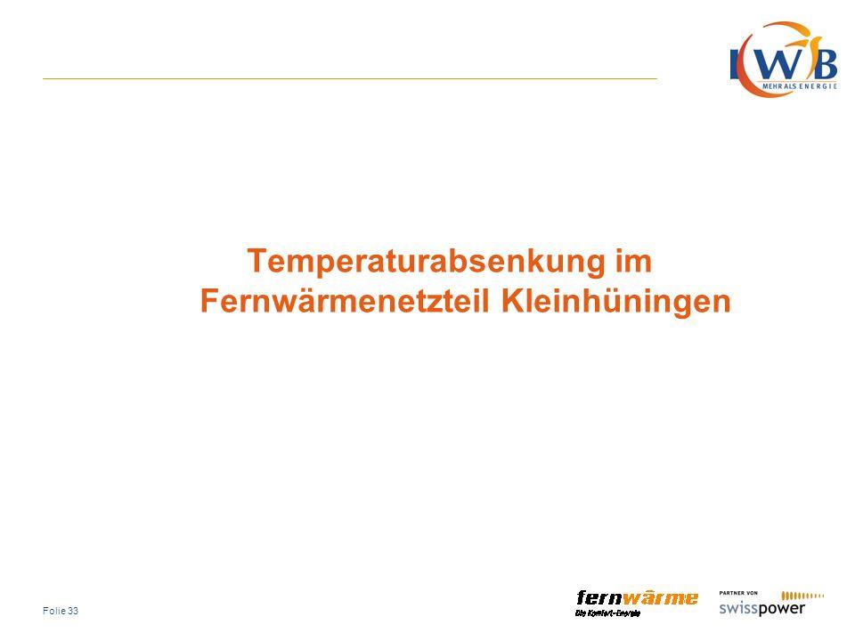 Temperaturabsenkung im Fernwärmenetzteil Kleinhüningen
