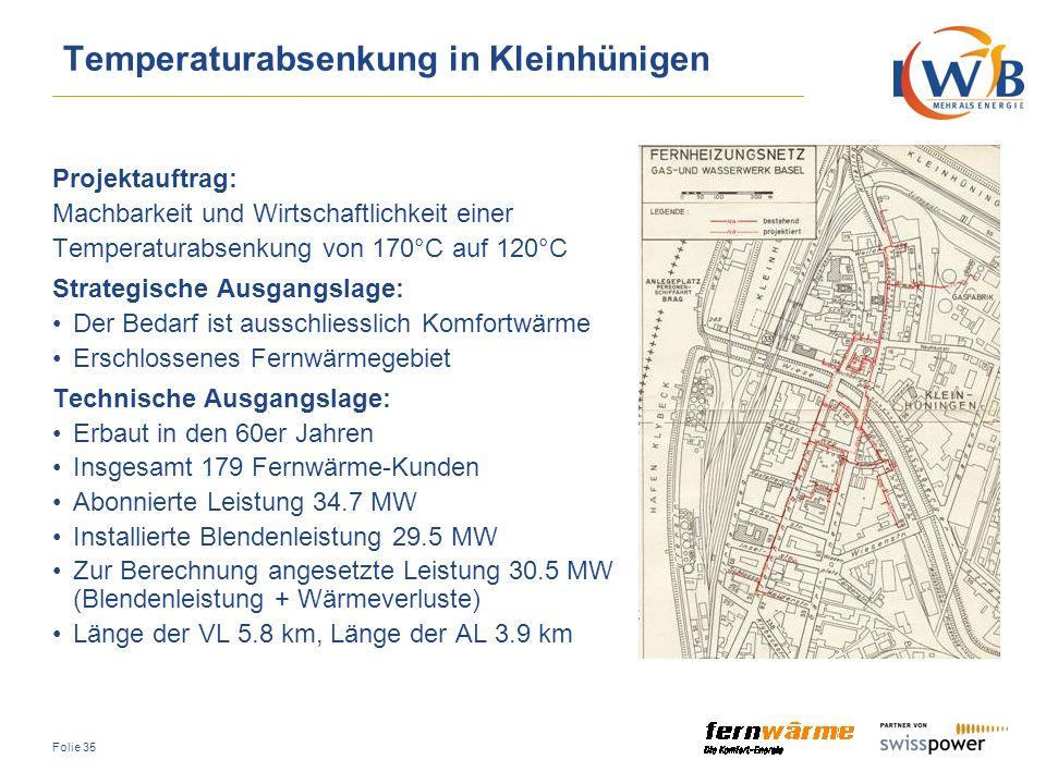 Temperaturabsenkung in Kleinhünigen