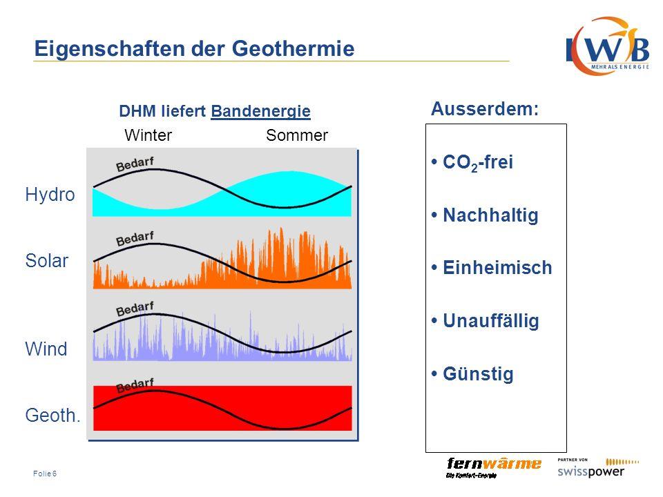 Eigenschaften der Geothermie