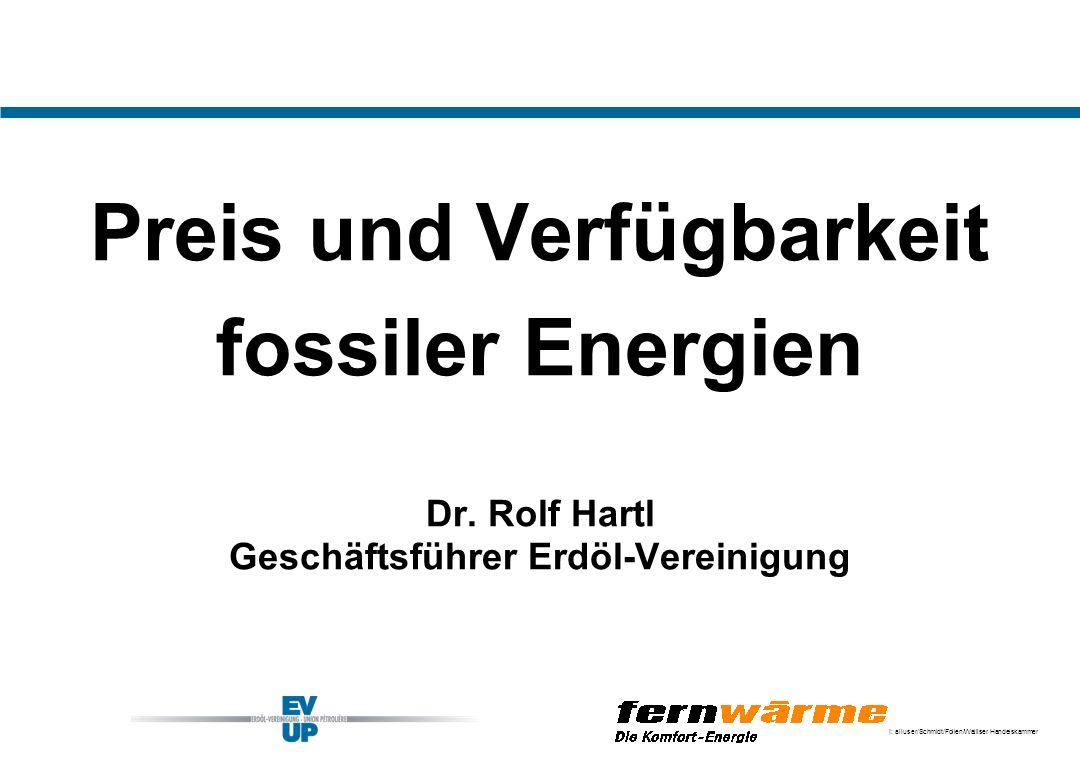 Preis und Verfügbarkeit Geschäftsführer Erdöl-Vereinigung