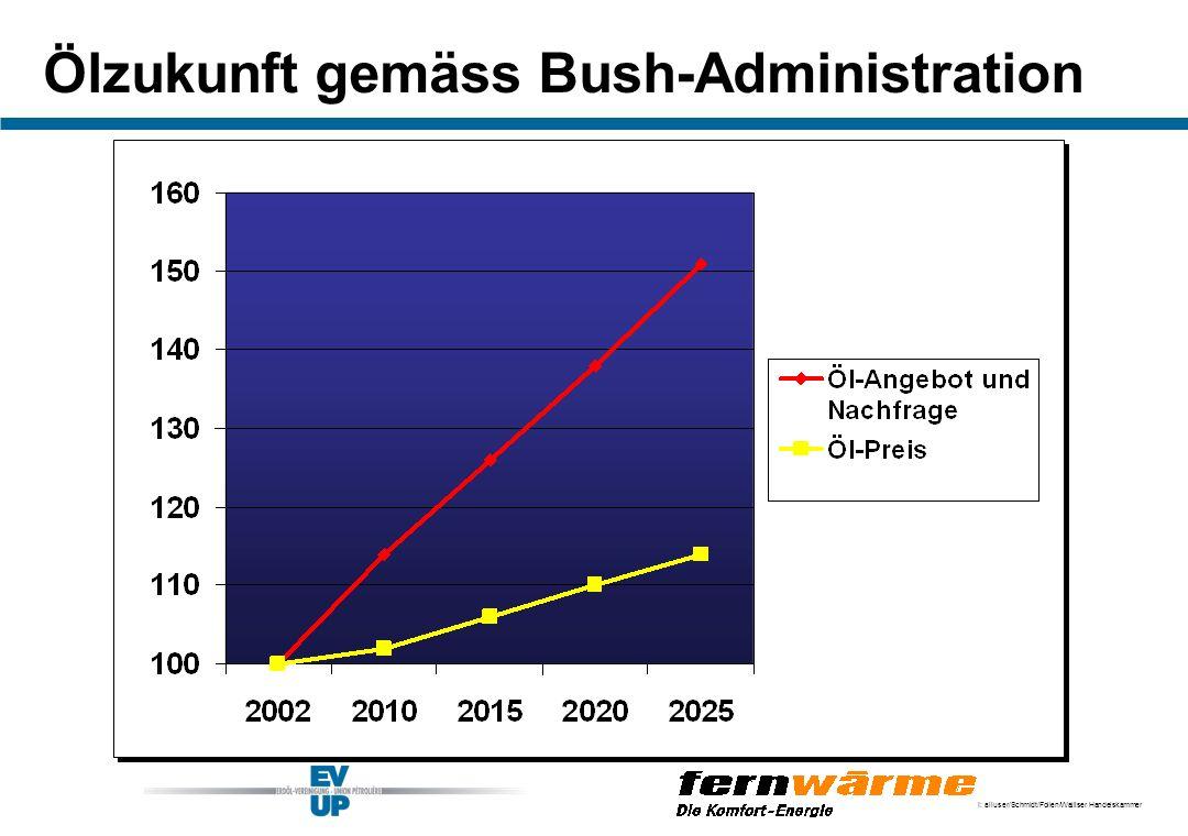 Ölzukunft gemäss Bush-Administration