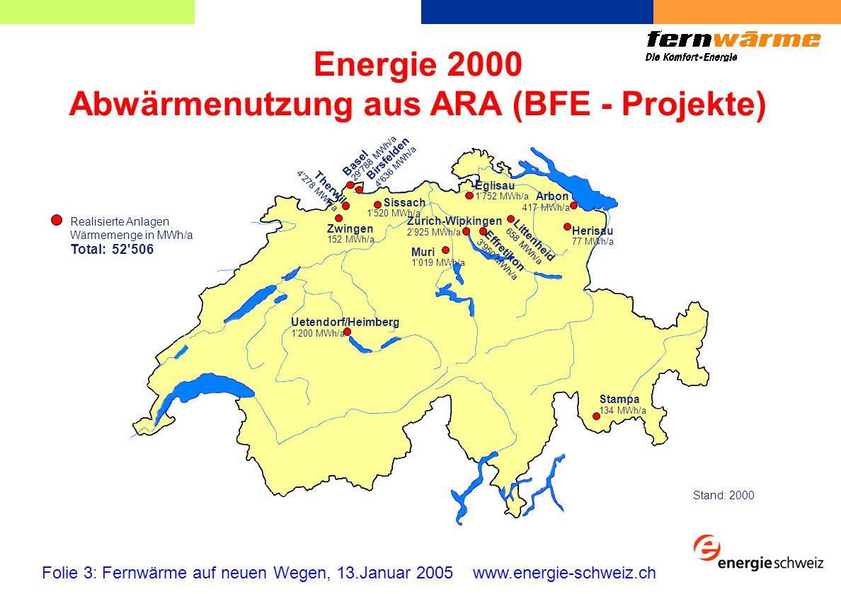 Abwärmenutzung aus ARA (BFE - Projekte)