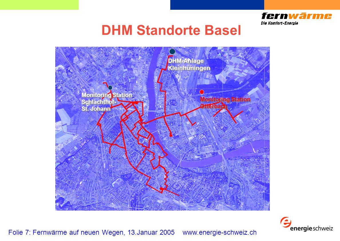 DHM Standorte Basel Monitoring Station. Otterbach. DHM Anlage. Kleinhüningen. Schlachthof- St. Johann.