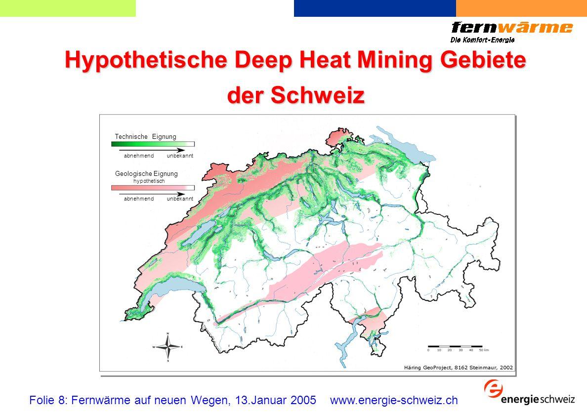 Hypothetische Deep Heat Mining Gebiete