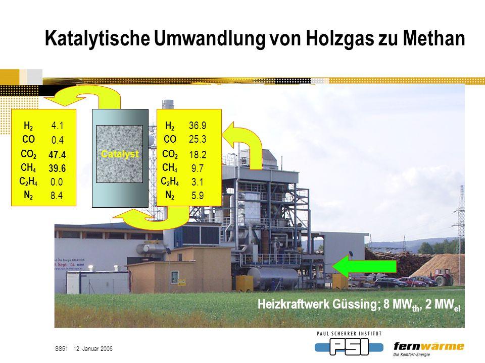 Katalytische Umwandlung von Holzgas zu Methan