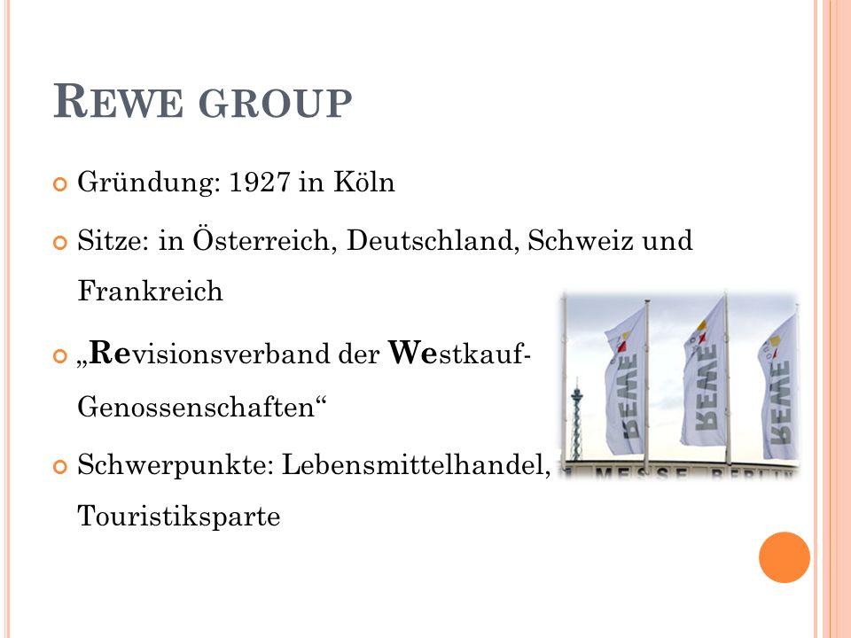 Rewe group Gründung: 1927 in Köln