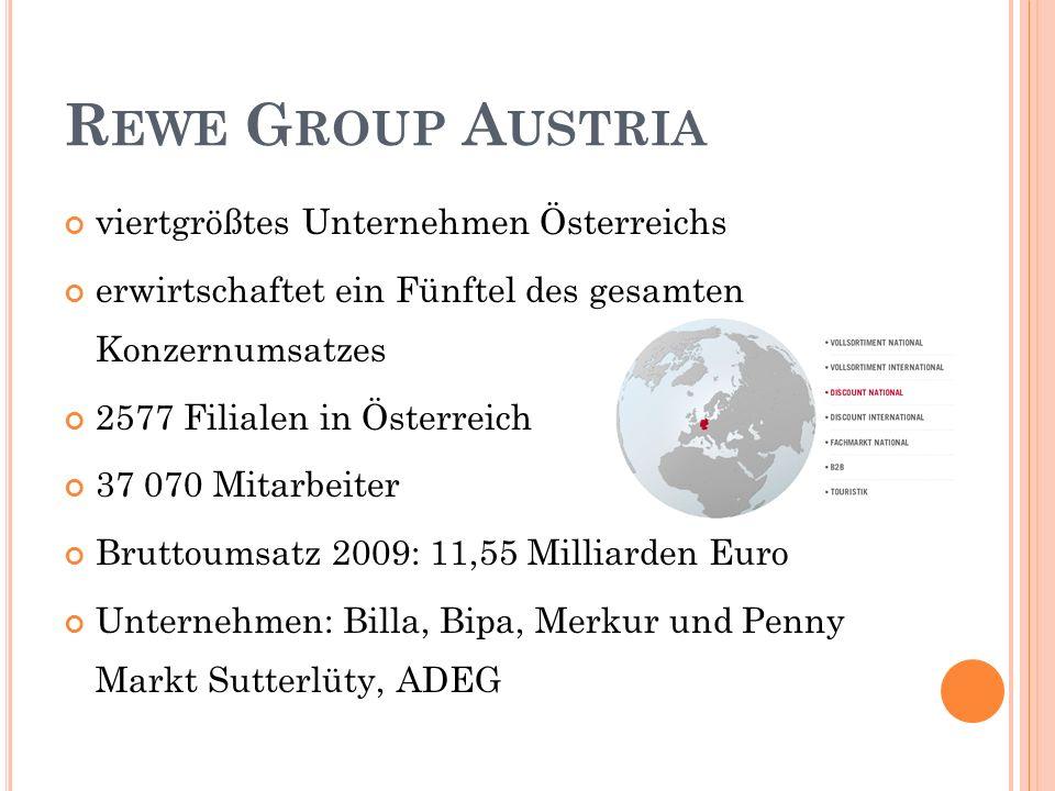Rewe Group Austria viertgrößtes Unternehmen Österreichs
