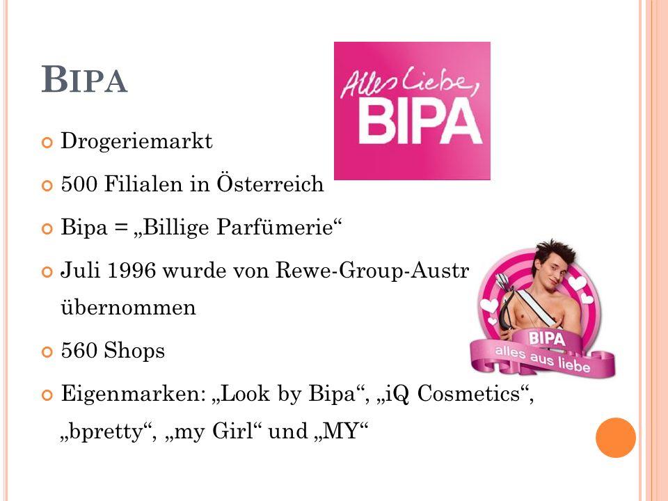 Bipa Drogeriemarkt 500 Filialen in Österreich