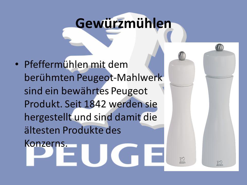 Gewürzmühlen Pfeffermühlen mit dem berühmten Peugeot-Mahlwerk