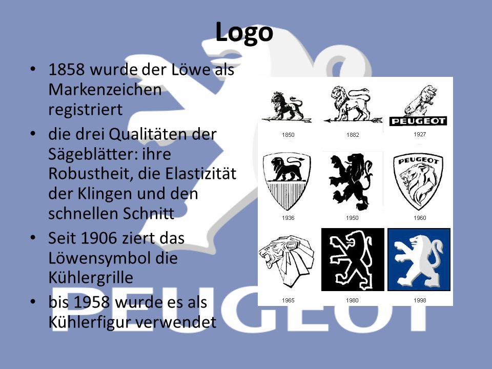 Logo 1858 wurde der Löwe als Markenzeichen registriert