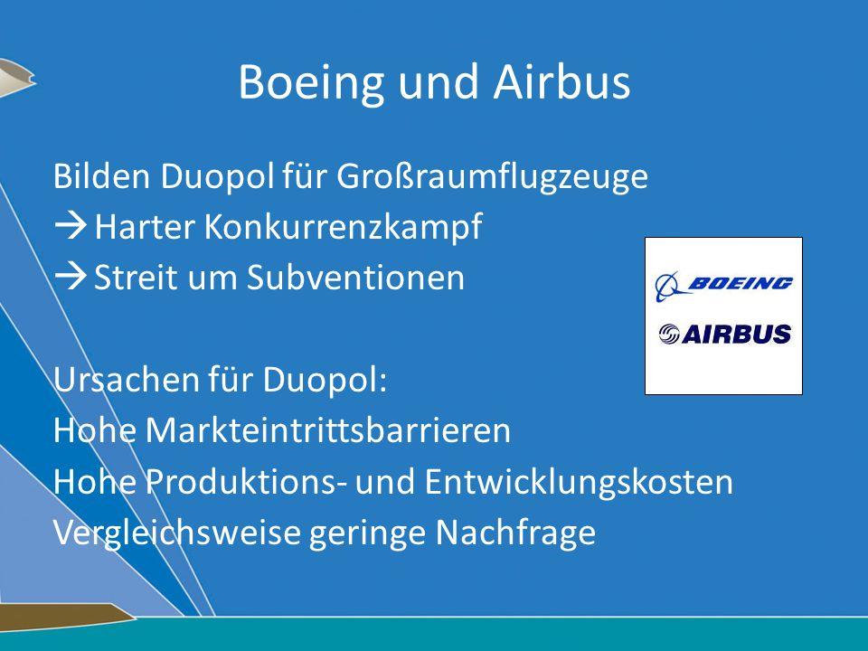 Boeing und Airbus Bilden Duopol für Großraumflugzeuge