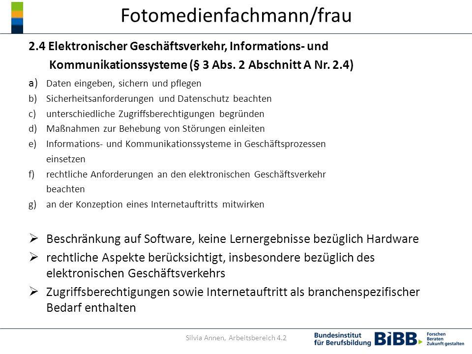 Fotomedienfachmann/frau