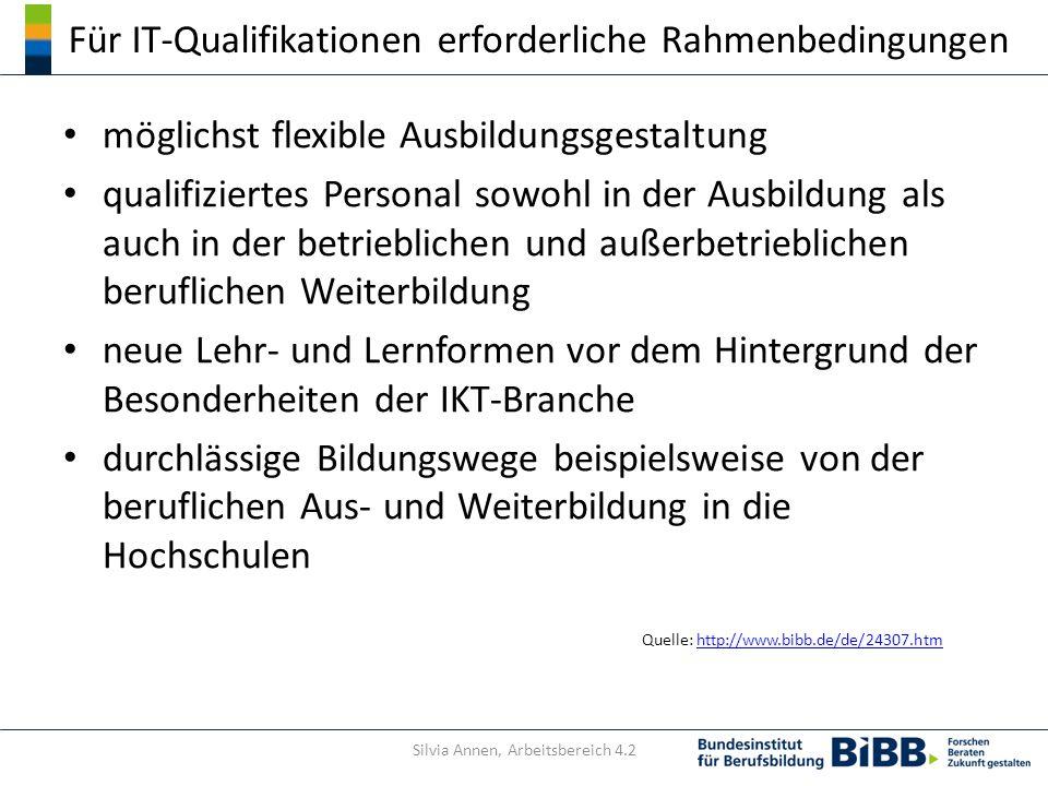 Für IT-Qualifikationen erforderliche Rahmenbedingungen