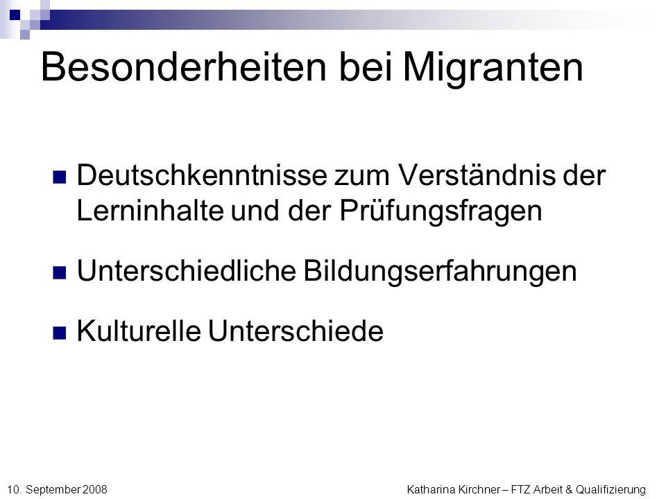 Besonderheiten bei Migranten