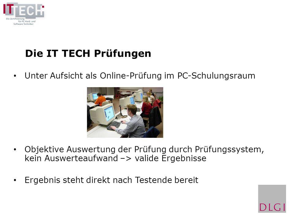 Die IT TECH Prüfungen Unter Aufsicht als Online-Prüfung im PC-Schulungsraum.