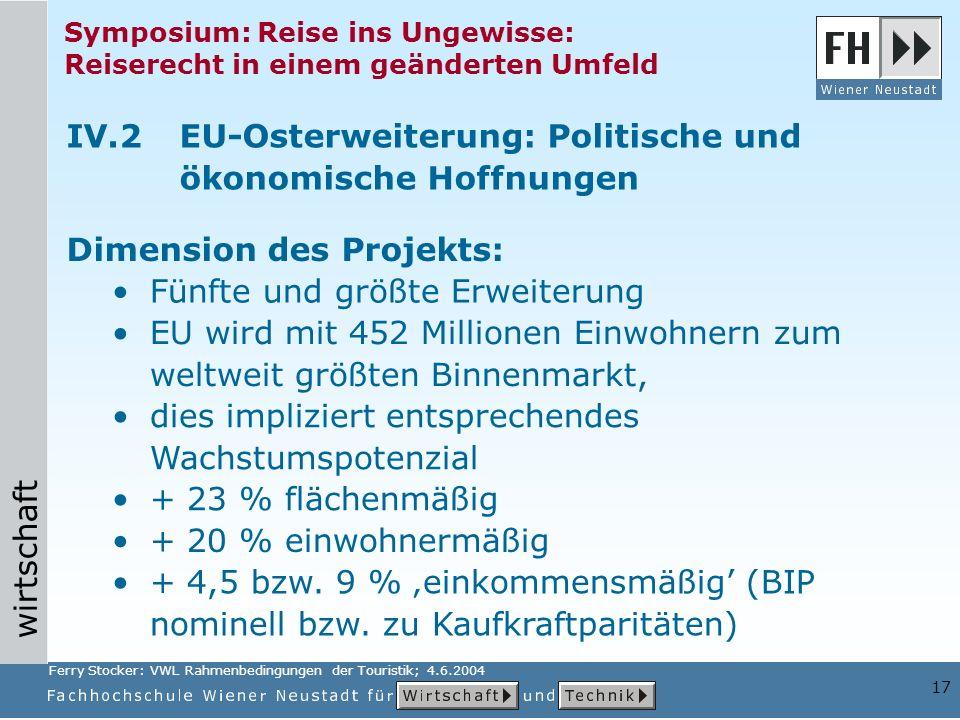 IV.2 EU-Osterweiterung: Politische und ökonomische Hoffnungen
