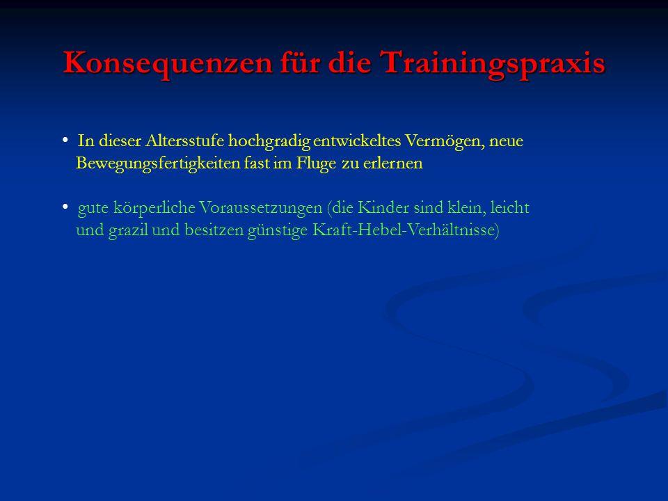 Konsequenzen für die Trainingspraxis
