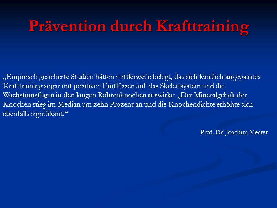 Prävention durch Krafttraining