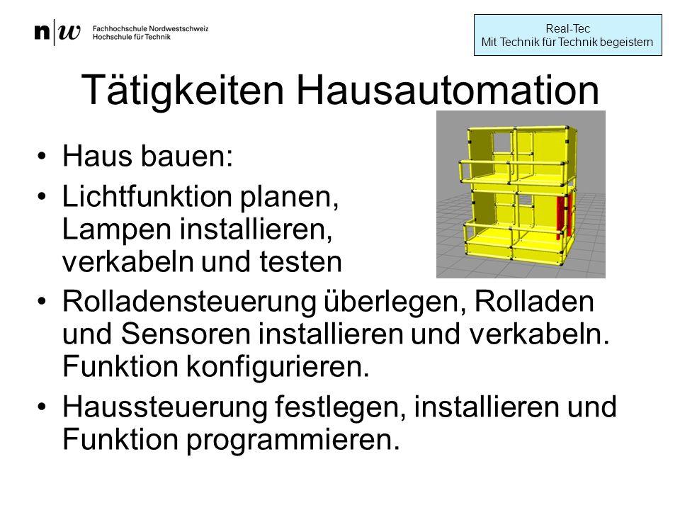 Tätigkeiten Hausautomation