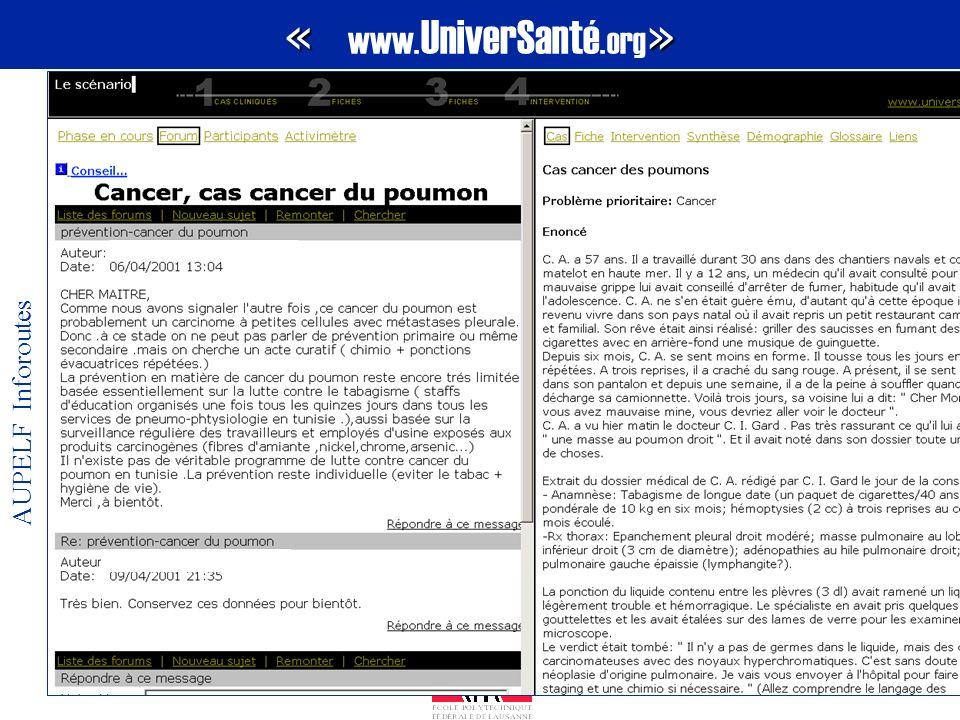 « www.UniverSanté.org» AUPELF Inforoutes