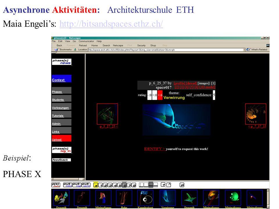 Asynchrone Aktivitäten: Architekturschule ETH