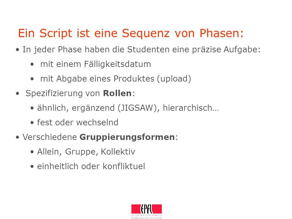 Ein Script ist eine Sequenz von Phasen: