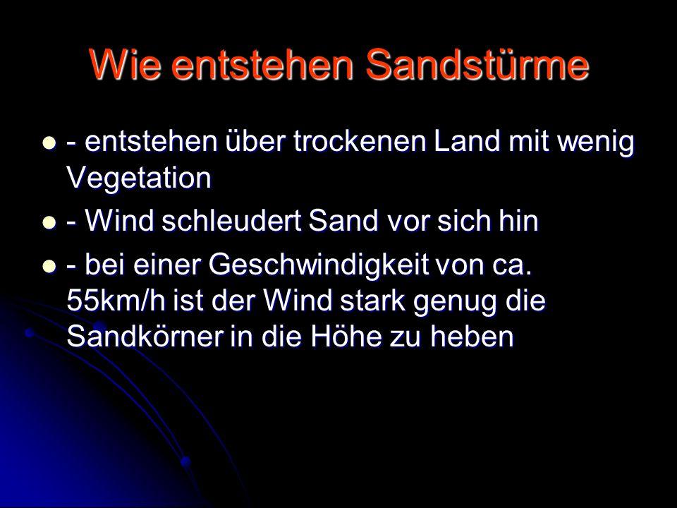 Wie entstehen Sandstürme