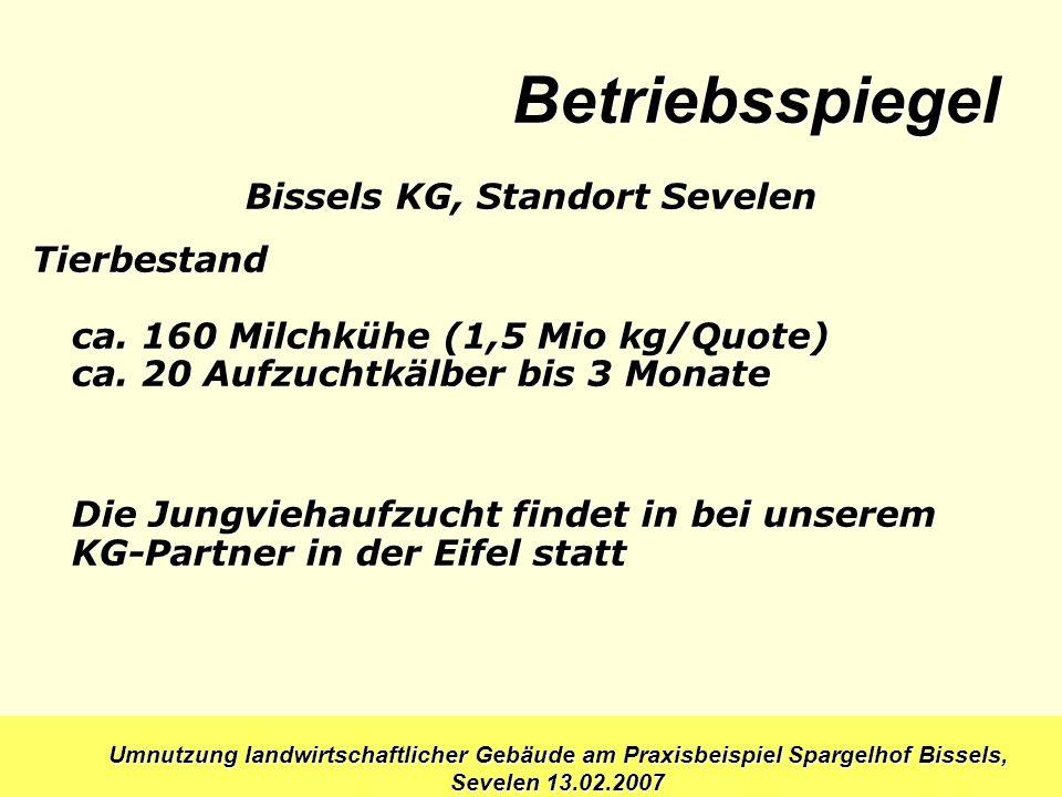 Bissels KG, Standort Sevelen