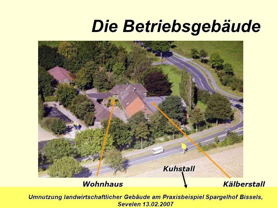 Die Betriebsgebäude Kuhstall Wohnhaus Kälberstall