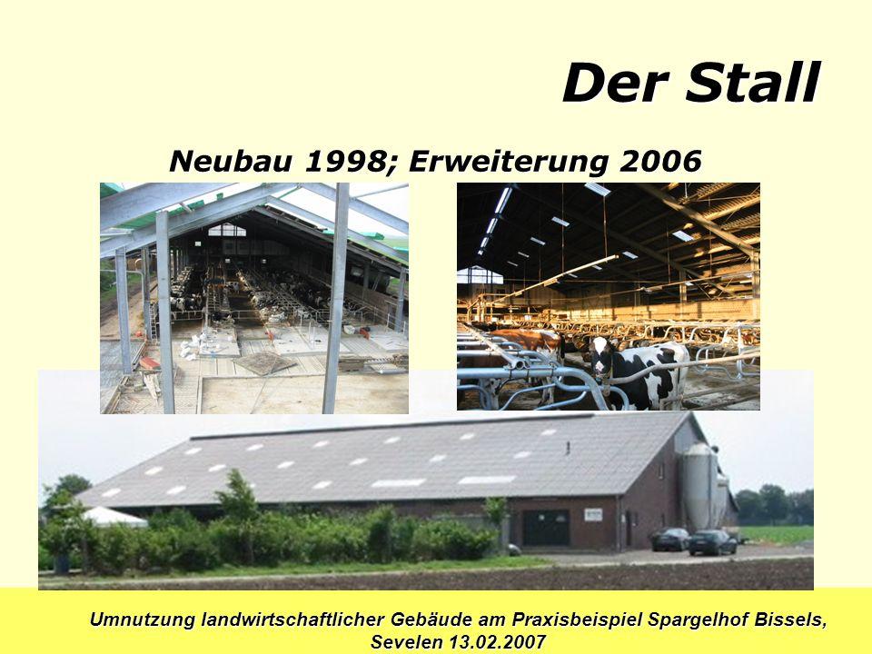 Der Stall Neubau 1998; Erweiterung 2006