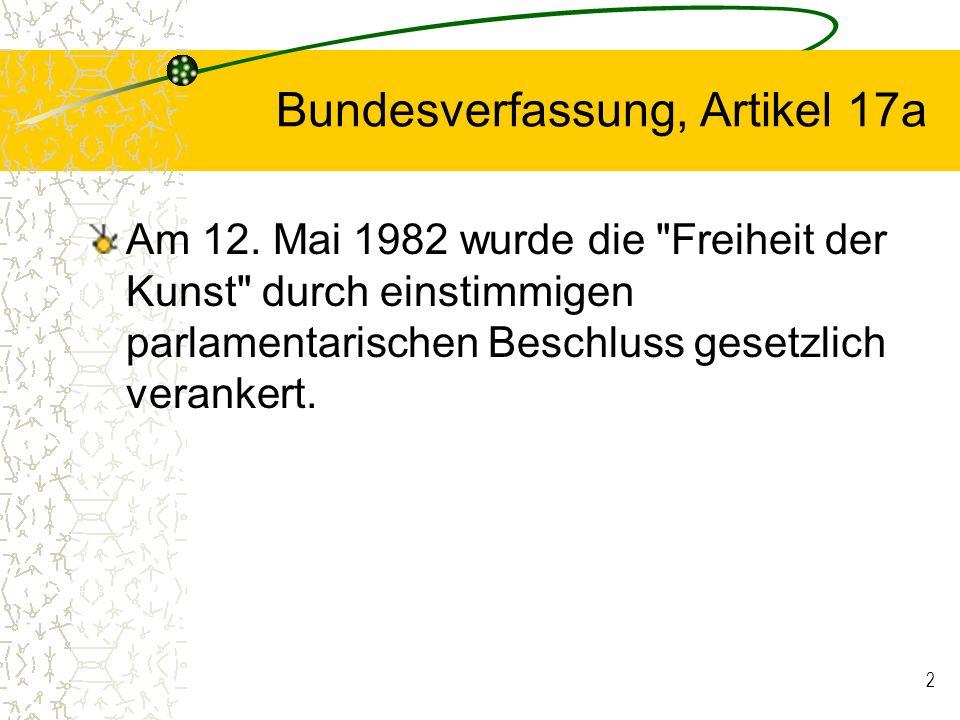 Bundesverfassung, Artikel 17a