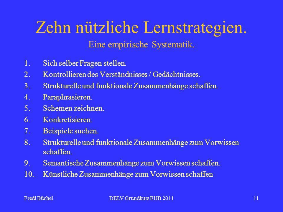 Zehn nützliche Lernstrategien. Eine empirische Systematik.