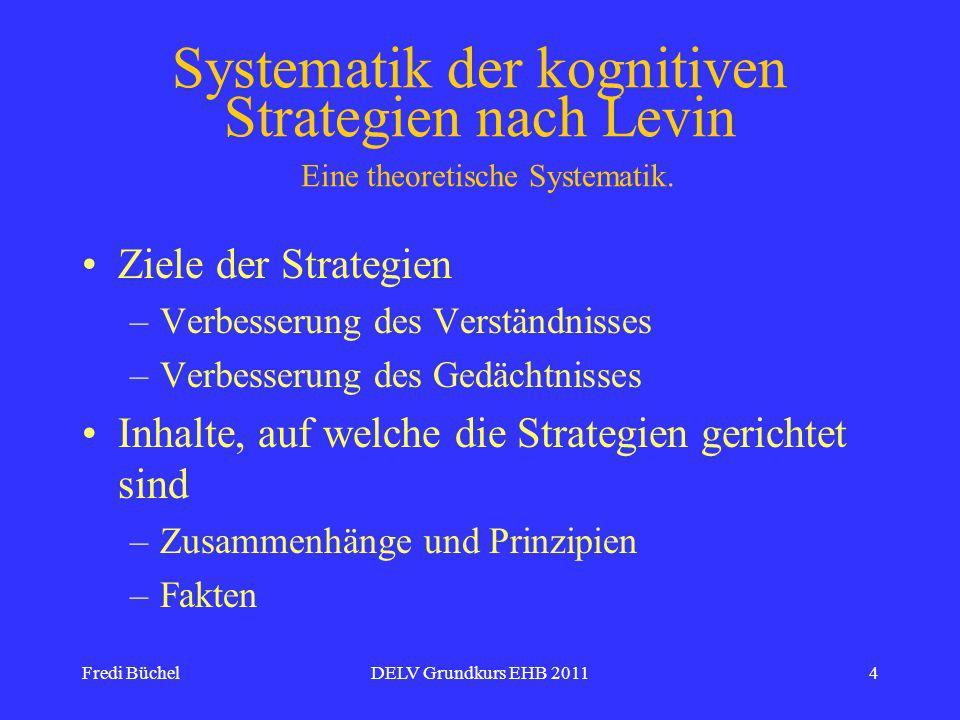 Systematik der kognitiven Strategien nach Levin Eine theoretische Systematik.