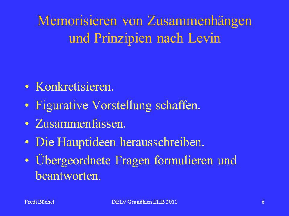 Memorisieren von Zusammenhängen und Prinzipien nach Levin
