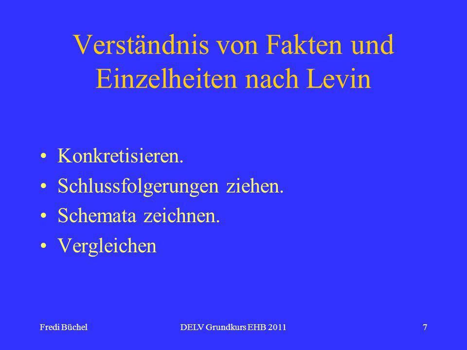 Verständnis von Fakten und Einzelheiten nach Levin