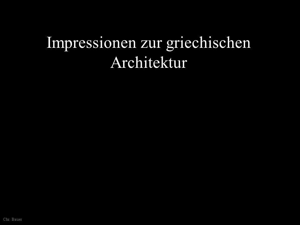 Impressionen zur griechischen Architektur