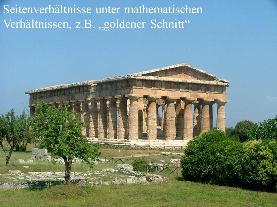 Seitenverhältnisse unter mathematischen Verhältnissen, z. B