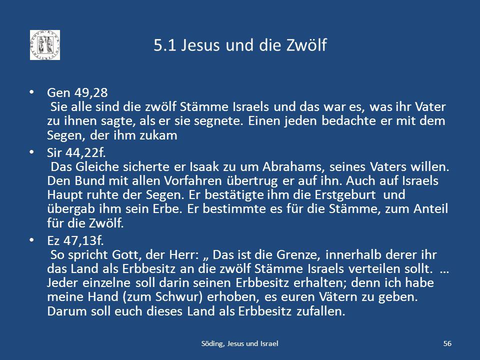 Söding, Jesus und Israel