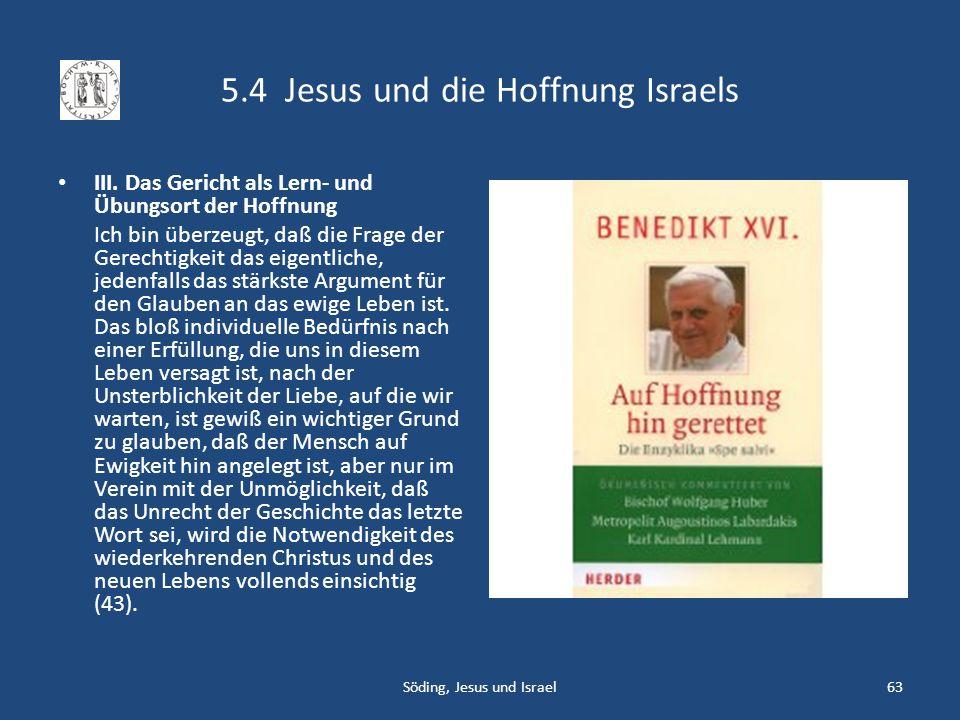 5.4 Jesus und die Hoffnung Israels